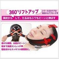 Free shipping 10pcs/lot 3D Face Slimming Shaping Cheek Uplift Sleeping Belt Cheek Scalp Face Shaper Belt Anti Wrinkle Sagging