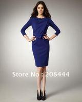 Женское платье women's dresses OL commute dresses sexy dress career dress short sleeves black with ruffles IR081