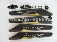 Free shipping  LT-711 main blade grip set driving gears connect buckles main blades spare parts HAWKSPY hawkspy LT711 LT 711