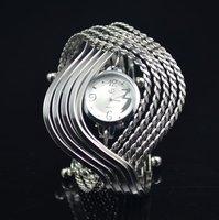 style Milisha Stainless steel Special Full Crystal Diamond Women's Girls Dress Watch Wrist Quartz Watch Free Ship