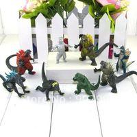Wholesale - Godzilla Monsters dinosaur Figures lot Set of 8 free shipping