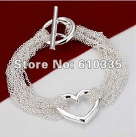 Hot!Free Shipping wholesale 925 Sterling Silver Fashion Jewelry Bracelet.GB12