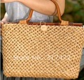cool!! Retro Stytle Straw  Bag  Hand  Bag