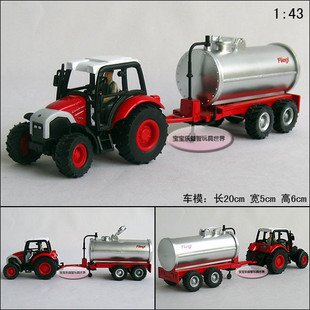 Candice guo! New arrival hot sale farm tractors series oil tank truck alloy model car toy car good for gift 1pc(China (Mainland))