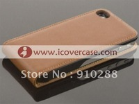 for iphone 4 genuine leather case for iPhone 4s Brown