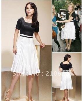 Blake Lively Princess Square Knee-length SatinCocktail/Homecoming/Gossip Girl Fashion Dress