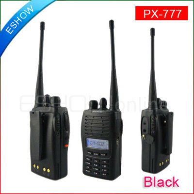 New Walkie Talkie UHF or VHF PuXing PX-777 Interphone Transceiver Two-Way Radio LCD display Mobile Portable Handled A0755A(China (Mainland))
