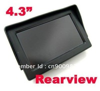 """4.3"""" TFT LCD Color Screen Camera Monitor Car Reverse Rear view DVD VCR System free shipping"""