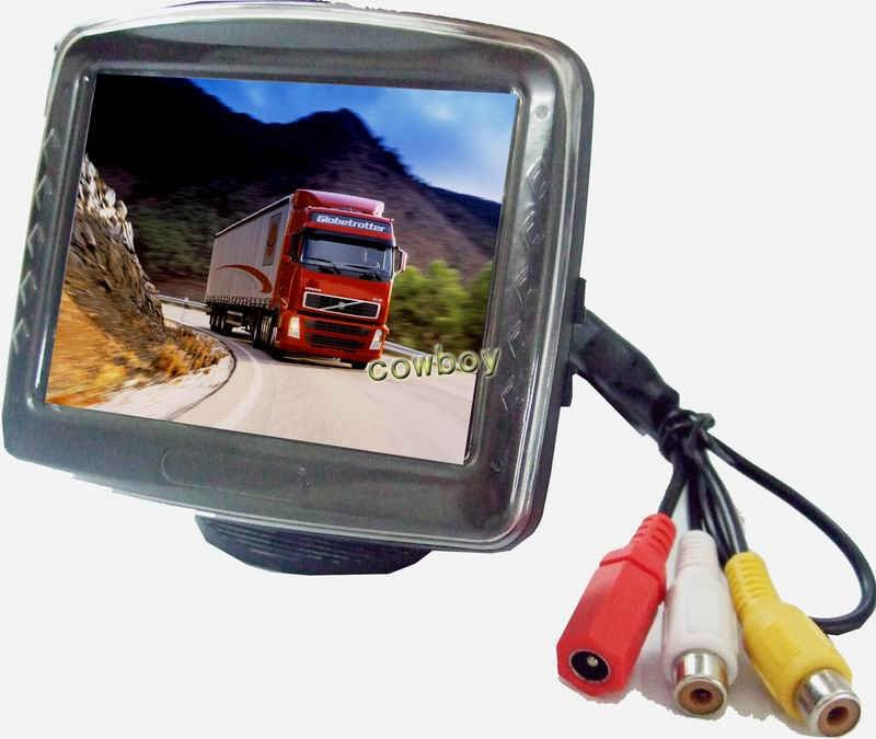 "stand 3.5-inch TFT LCD monitor High defination Wholesale 3.5"" Color Dashboard Backup Car TFT LCD Rear View Monitor CB-M058(China (Mainland))"