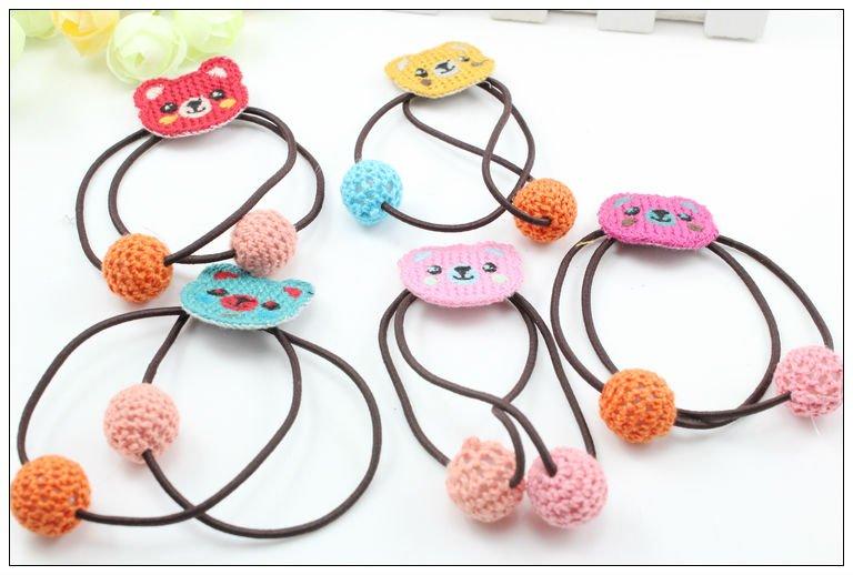 Fabric Elastic Hair Bands Flower Elastic Hair Band