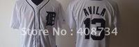 Free shipping-Detroit Tigers #13 Alex Avila White jersey,Tigers jerseys,baseball jerseys