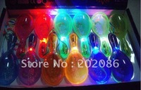 Factory Trialsale 12pcs LED flashing maraca Party supplier light up maraca Holiday KTV items free shiping