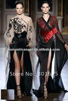 zuhair murad long sleeve lace evening dress 2012
