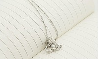 Promotion Price! 2012 Hot Double heart full drill star necklace Free Shipping