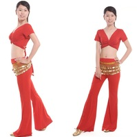 Free Shipping + gifts hot-selling Belly Dance costume set wear with the gifts of breast pad 3pcs/lot red