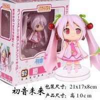 FREE SHIPPING Garage Kit Sakura Miku Q-style clay toy with action & figure