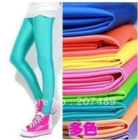 fashion full length shining Elastic Women long Leggings Pants Skinny Sexy  12 sweet colour seamless wholesale