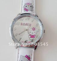 30Pcs/lot EMS Free Shipping Fashion Quartz watch Lovely Watches HelloKitty Watch Sweet Cute for Ladies Girl women watch (5708)