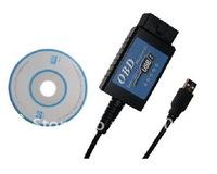 2012 Newest USB ELM327 V1.4 Plastic OBDII EOBD OBD2 CAN BUS Scanner---Free Shipping