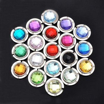 Free shipping/  20+colors 6pcs   Bag hanger    Purse holder  Foldable  Handbag Hook  wholesale    HK-016