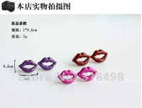 wholesale 2012 lady's new fashion sexy lip ear pin ear hammer earring ear hammer eardrop Adorn article