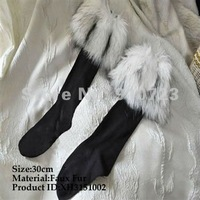 30Pairs/LOt Soft Lady Winter Ankle Lower Leg warmer Boot Sleeve Short Covers Faux Furs Socks