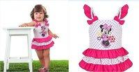 Платье для девочек 5 pcs baby girls jeans dress B2W2 cupcake dress plaid red color dress 80-120