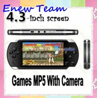 Free shipping 4GB 4.3 inch Video Game Console Player 1.3 M Camera MP4 MP5 + 2000 games