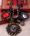 2012 Latest Skull Jewelry Animal Head & Spider Vintage Pendant Necklace Free Shipping,S2902