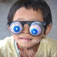 Trialsale 10pcs Horror shock pop eyes glasses Novelty Joking glasses Halloween glasses free shipping