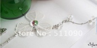 Promotion Price! 2012 Hot Wholesale supply relaxed and clover long necklace sweater chain Free Shipping