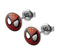 10mm Web Head Spider Stud Earrings Fake ear plug  body jewelry ERTCR028