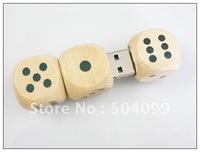 Wooden bamboo dice Wholesale genuine capacity usb flash pen drive disk stick pendrive memory   2gb,4gb,8gb,16gb,32GB,64GB