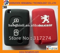 fashional silicone car key case for PEUGEOT