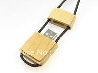 Free Shipping 100% full capacity wooden USB Flash Drive 16GB