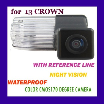 CAR REAR VIEW REVERSE BACK COLOR CMOS/170 DEGREE/WATERPROOF/WITH REFERENCE LINE/NIGHT VISION CAMERA FOR  TOYOTA 13 CROWN(CA-828