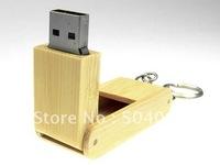 Wooden bamboo box Wholesale genuine capacity usb flash pen drive disk stick pendrive memory   4GB