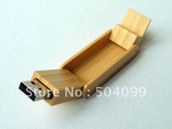 Wooden bamboo box Wholesale genuine capacity usb flash pen drive disk stick pendrive memory   2gb,4gb,8gb,16gb,32GB,64GB