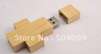 8GB wooden cross usb flash drive cheap usb 2.0 free shipping