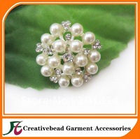 free shipping fashion flower pearl rhinestone brooch, brooch for wedding, high quality