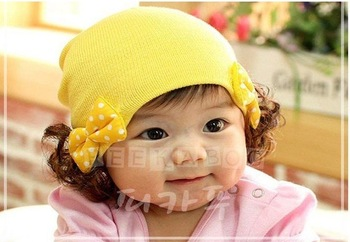 New Design Cute fashion baby bow hat baby hats infant cap kufi hat beanie kid spring autumn