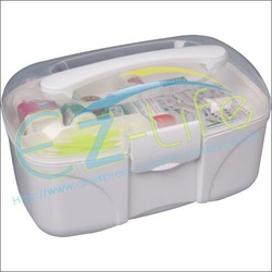 Plastic multi-purpose storage box, first aid kit, home medicine organizer case, beauty set collection case, free shipping(China (Mainland))