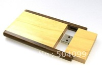 Wooden bamboo swivel box Wholesale genuine capacity usb flash pen drive disk stick pendrive memory 8GB