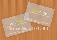 Clear Plastic Business Cards,transparent card,Translucent Frosted Plastic card