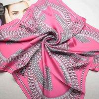 New neckerchief retail wholesale Fashion ladies' silk twill large square scarves 202N028