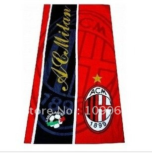 AC milan red and black beach towel / bath towel /cotton bath towel