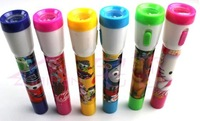 free shipping hot selling 2in1 Cute Cartoon LED Flashlight Ballpen Ballpoint Pen