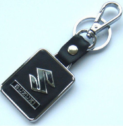 1233013-14 free shipping 12pcs/box Suzuki car mark key chain leather car key chains high-grade quality keychains(China (Mainland))