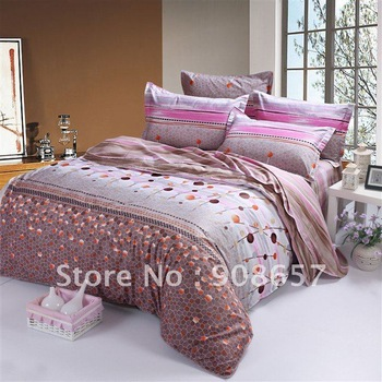 brand new modern 3D style pattern Cotton Printed duvet quilt cover sets for girl's bedding comforter Queen bed in a bag sets #SL