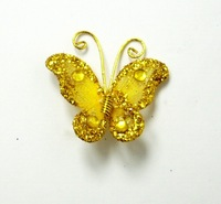 "Free shipping Wedding Decoration 1""  Gold 50pc Stocking Butterfly new wholesale /retail"